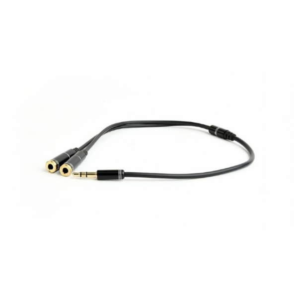 Gembird !Adapter audio microphon 3.5mm mini Jack/4PIN/0. audio cable 0.2 m 2 x 3.5mm Black