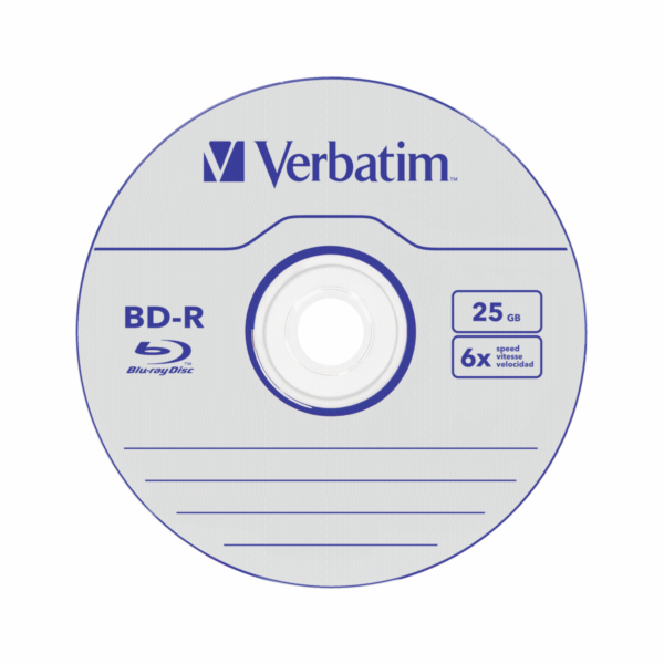 1x5 Verbatim BD-R Blu-Ray 25GB 6x Speed Datalife No-ID Jewel