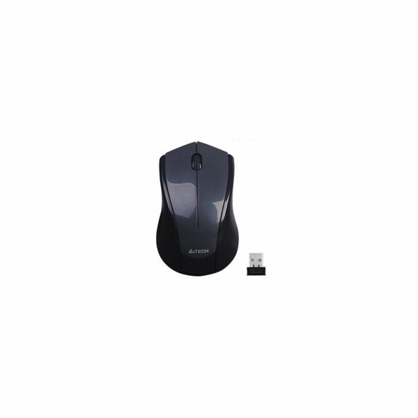 A4tech G3-400N , V-Track, bezdrátová optická myš, 2.4GHz, 10m dosah, šedo-černá