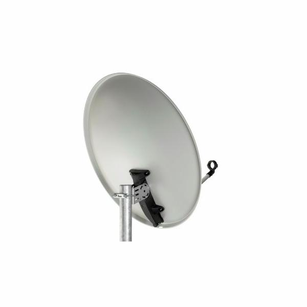 Satelitní parabola Tele Systems offset 80 Fe Economy line - šedá + plastové příslušenství