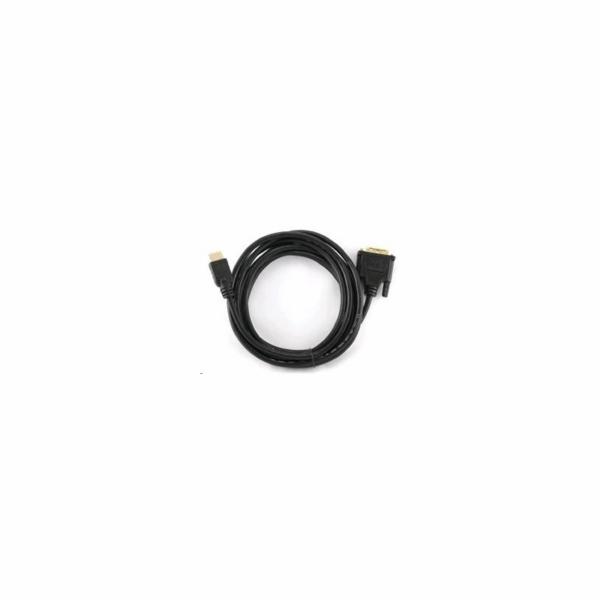 Kabel HDMI-DVI 3m,M/M stín.,zlacené kontakty 1.3