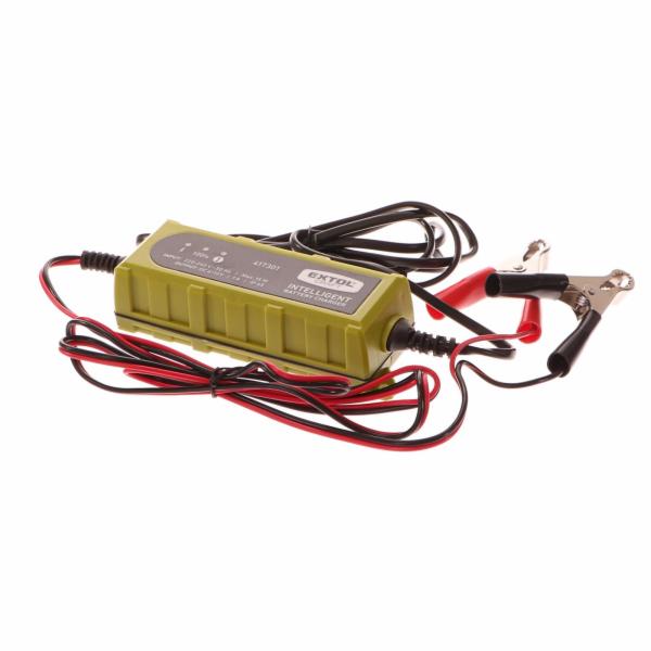 Autonabíječka 5stupňová, řízená mikroprocesorem, 6/12V, 1A EXTOL-CRAFT