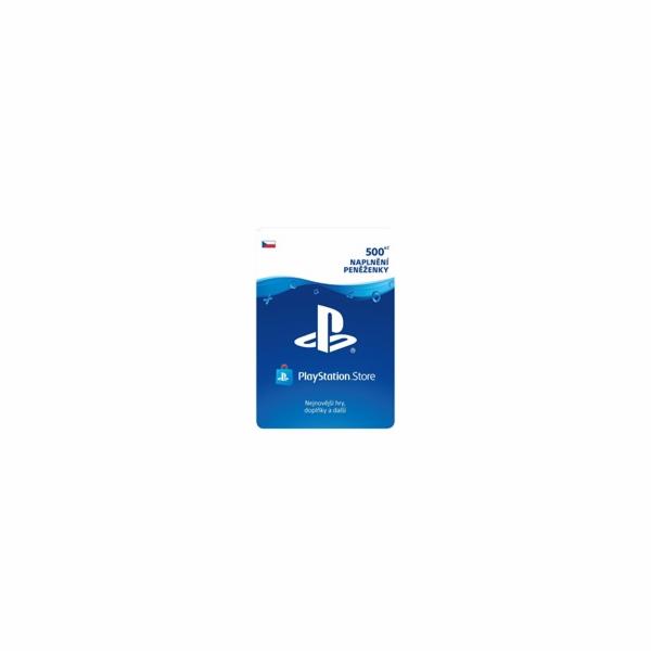 Sony PlayStation Store předplacená karta 500 CZK Live Cards