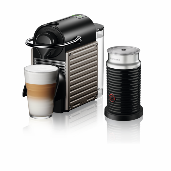 Krups XN 305T Nespresso Pixie vč. šlehače mléka Aeroccino