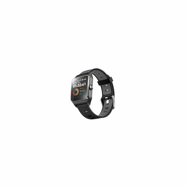 "UMAX U-Band P1 PRO Black - 1.3"" Dotykový barevný IPS Displej, pásek 150-235mm, USB kabel, BT, Baterie 250mAh"