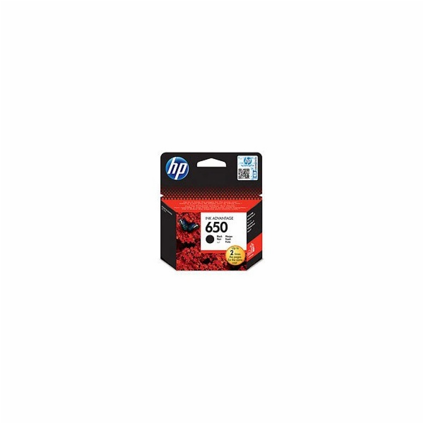 HP 650 Black Ink Cart, 6,5 ml, CZ101AE