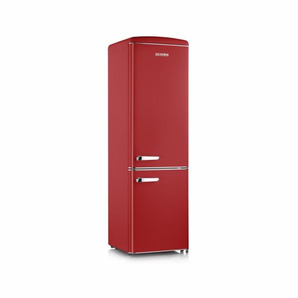 Kombinovaná lednice Severin, RKS 8920, retro design, 244 l, LED osvětlení, 43 dB, 188 kWh/rok, N-ST