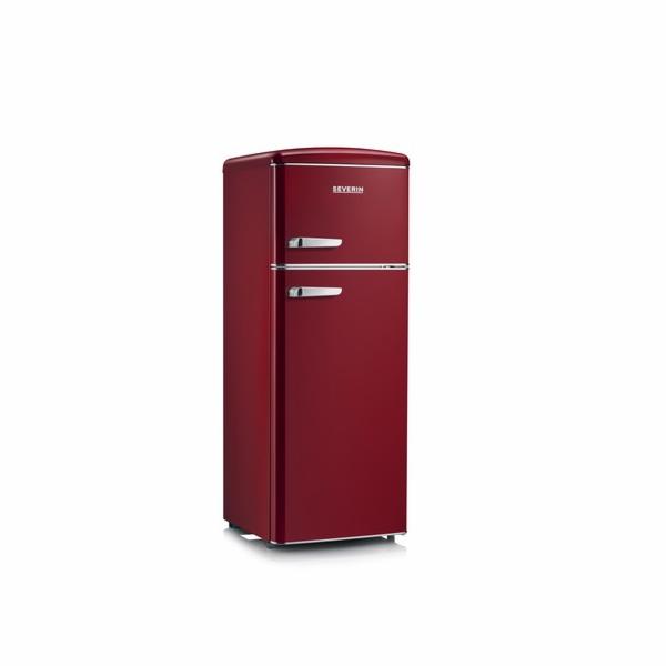 RKG 8931 WINE RED RETRO chladnička 208L