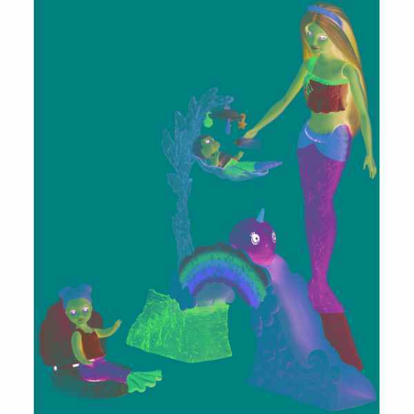 Barbie Dreamtopia Meerjungfrauen-Spielplatz-Set mit Puppen