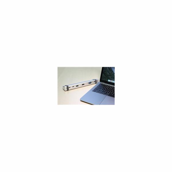 EVOLVEO USB -C MultiPort 1, 10Gbs, kovový