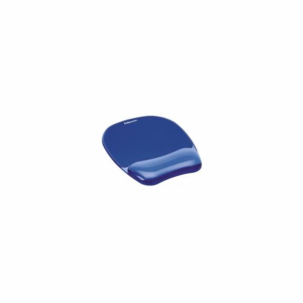 Fellowes Podložka pod myš a zápěstí CRYSTAL gelová modrá
