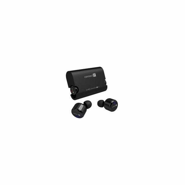 CONNECT IT True Wireless HYPER-BASS Ed. II Bluetooth sluchátka do uší s mikrofonem, černá