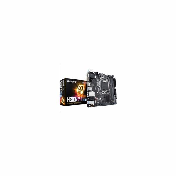 GIGABYTE MB Sc LGA1151 H310N 2.0 (rev. 1.0), Intel H310, 2xDDR4, VGA, mini-ITX