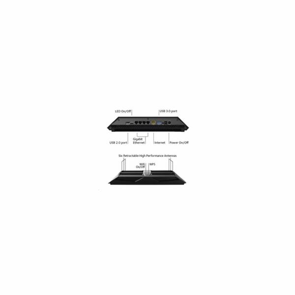 Netgear 4PT AC3200 WIFI ROUTER Nighthawk X6 Tri-Band)