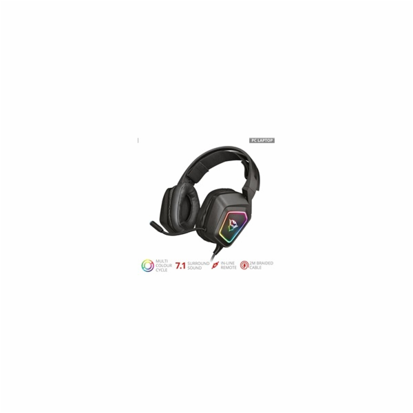 TRUST Sluchátka s mikrofonem GXT 450 Blizz RGB 7.1 Surround Gaming Headset
