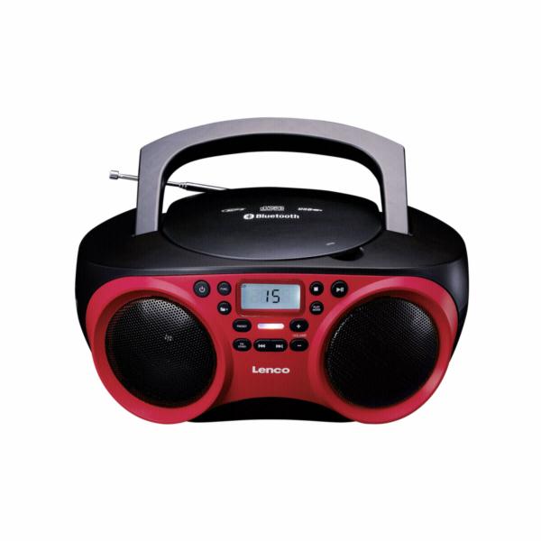 Lenco SCD-501 rot/schwarz Radio/CD prehravac cerveny/cerny