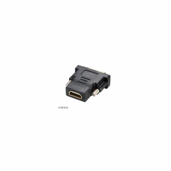 AKASA redukce DVI-D Male na HDMI Female, pozlacené konektory