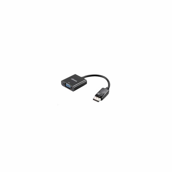 AKASA kabel redukce DisplayPort na VGA (D-SUB), 20cm