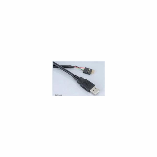 AKASA kabel redukce interní USB na externí USB (Type - M), USB 2.0, 40cm