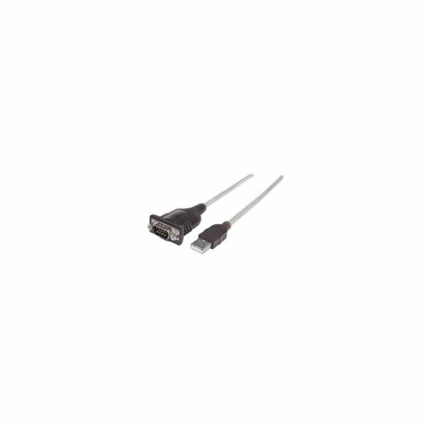MANHATTAN Převodník z USB na sériový port (Prolific PL-2303HXD Chip, 45cm)