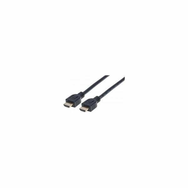 MANHATTAN kabel In-wall CL3 High Speed HDMI s Ethernetem, HEC, ARC, 3D, 4K, stíněný, 3m, Black