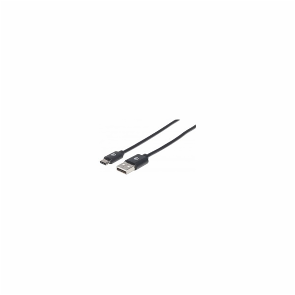 MANHATTAN kabel Hi-Speed USB-C, C Male / A Male, 2m, černý