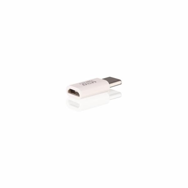 Aligator adaptér micro USB --> USB C pro nabíječky a datové kabely, černá