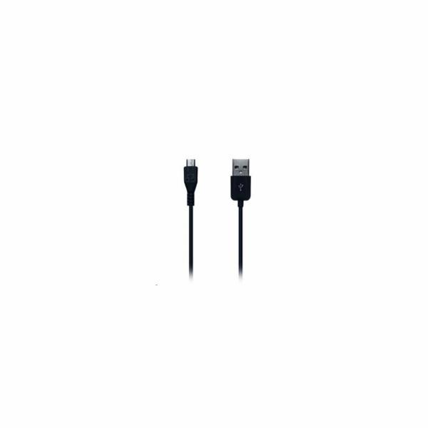 CONNECT IT Wirez kabel HQ microUSB - USB, černý, 2m