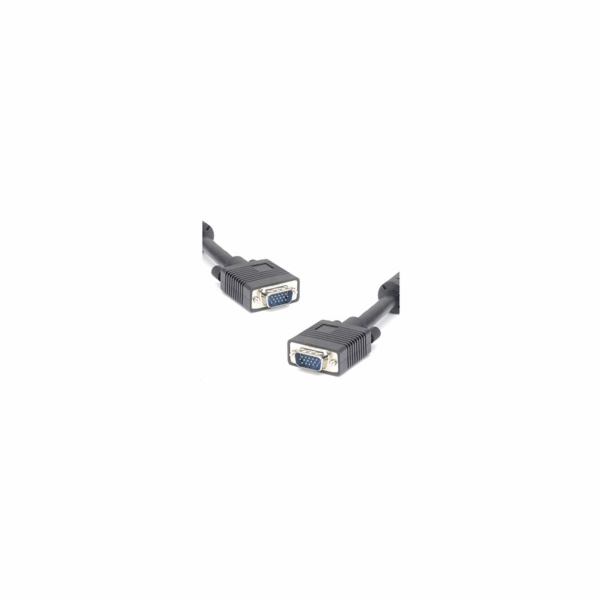 PREMIUMCORD Kabel VGA propojovací 15m HQ (HD15M/M, DDC2, 3x Coax + 8 žil, feritová jádra)