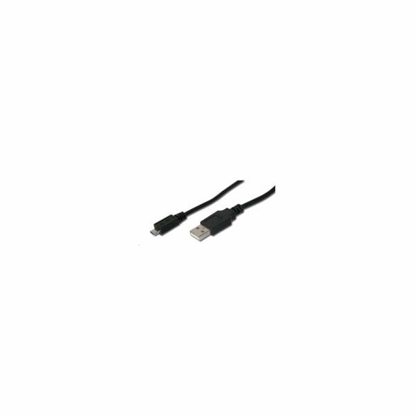 PREMIUMCORD Kabel USB 2.0 A - Micro B propojovací 5m (M/M)
