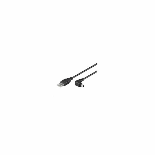 USB-A - Mini-USB-B 90° Winkel, Kabel
