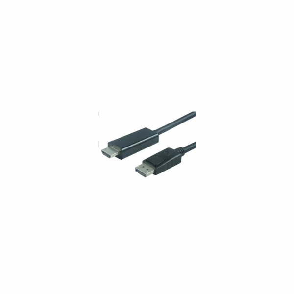 PREMIUMCORD Kabel DisplayPort 1.2 na HDMI 2.0, pro rozlišení 4Kx2K@60Hz, 1m