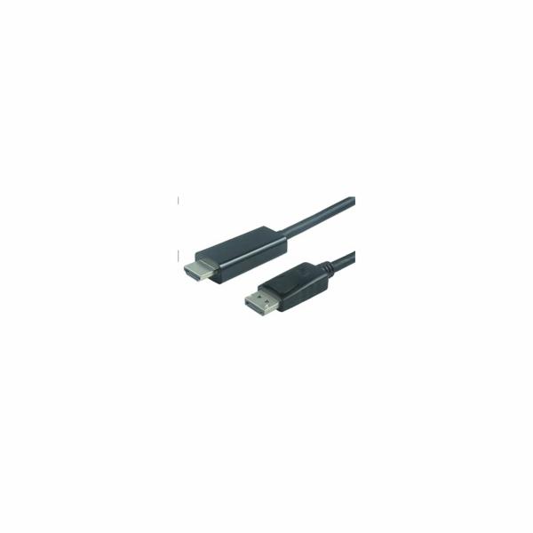 PREMIUMCORD Kabel DisplayPort 1.2 na HDMI 2.0, pro rozlišení 4Kx2K@60Hz, 2m