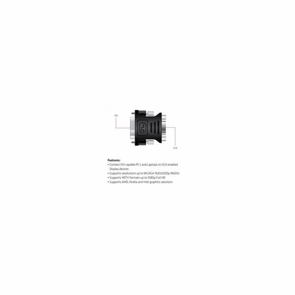Club3D Adaptér pasivní DVI-I na VGA (M/F)