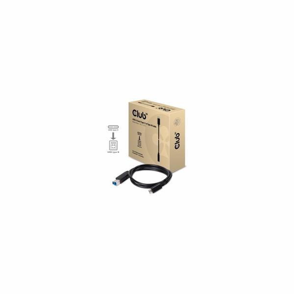 Club3D Kabel USB 3.1 typ C Gen2 na USB typ B (M/M), 1m
