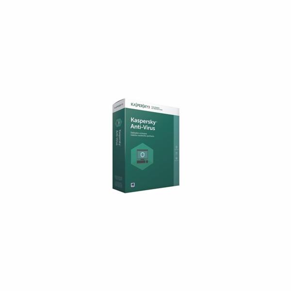 Kaspersky Anti-Virus 2019 CZ, 1PC, 1 rok, obnovení licence, elektronicky