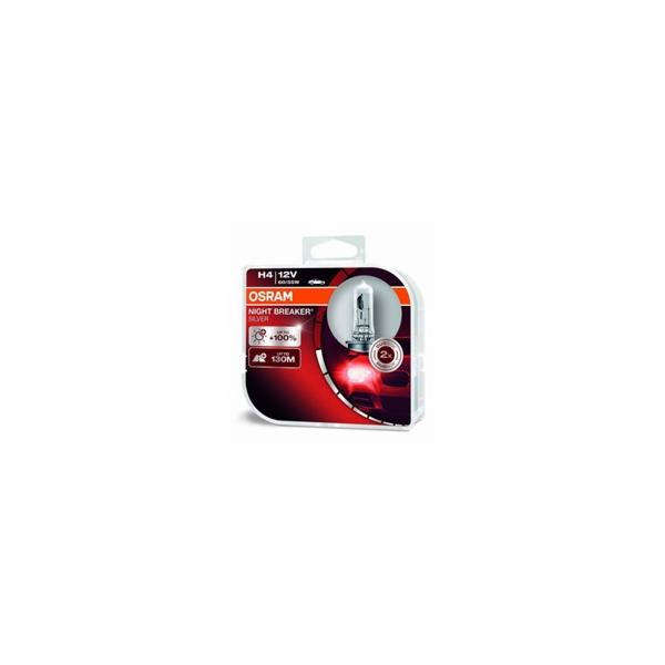 OSRAM autožárovka H4 NIGHT BREAKER SILVER 12V 60/55W P43T (Duo-Box)