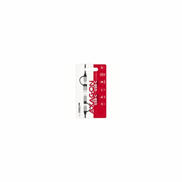AXAGON BUCMM-CAM20, 4in1 kabel USB-C/Micro USB <-> USB-C/USB-A, 2m, 3A, PD 60W