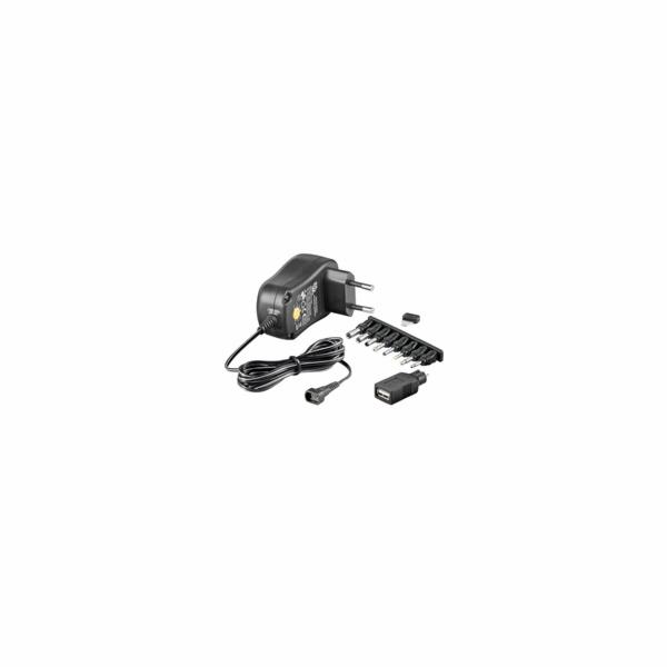 Goobay Univerzální napájecí adaptér 230V/3-12V stejnosměrný 1500mA