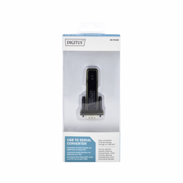 DIGITUS USB - Serial Adapter DSUB 9M USB 2.0 redukce