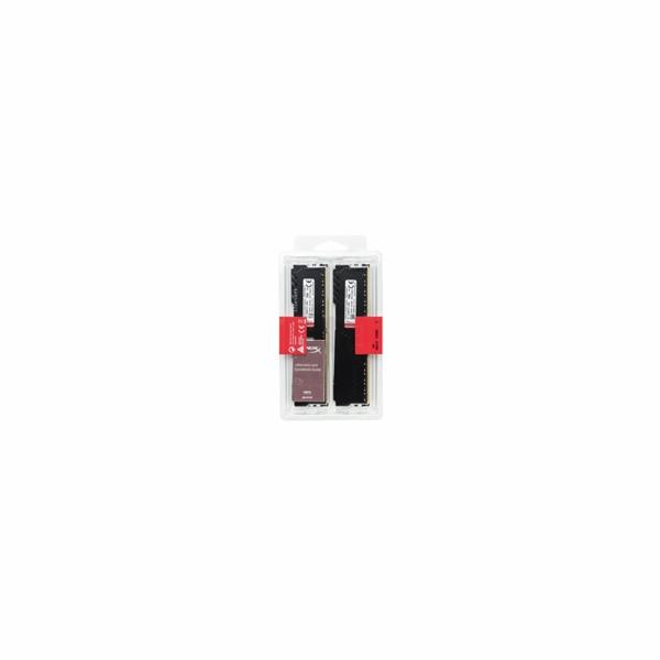 DIMM DDR4 16GB 2666MHz CL16 (Kit of 2) KINGSTON HyperX FURY Black 8Gbit