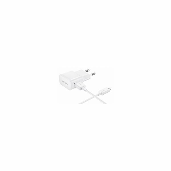 Samsung cestovní USB nabíječka EP-TA20E, 2 A, kabel micro USB, bílá