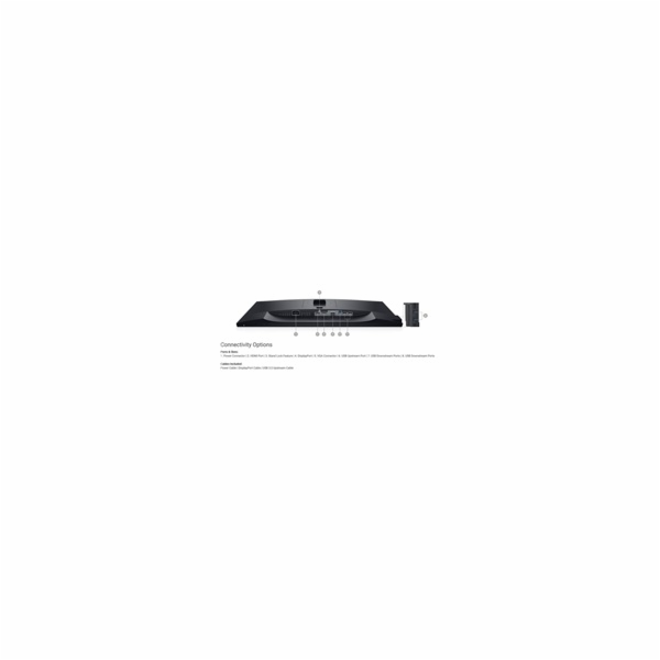 "Dell P2419H 210-APWU Professional 24"" WLED/8ms/1000:1/Full HD/HDMI/DP/VGA/USB/IPS panel/cerny"