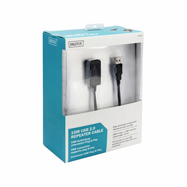 Digitus USB 2.0 aktivní prodlužovací kabel 15m