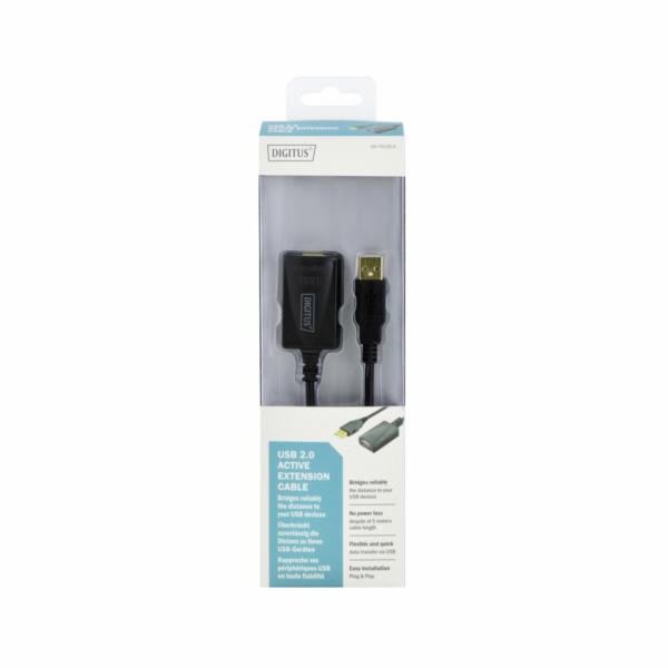 DIGITUS USB 2.0 aktivní prodluzovací kabel