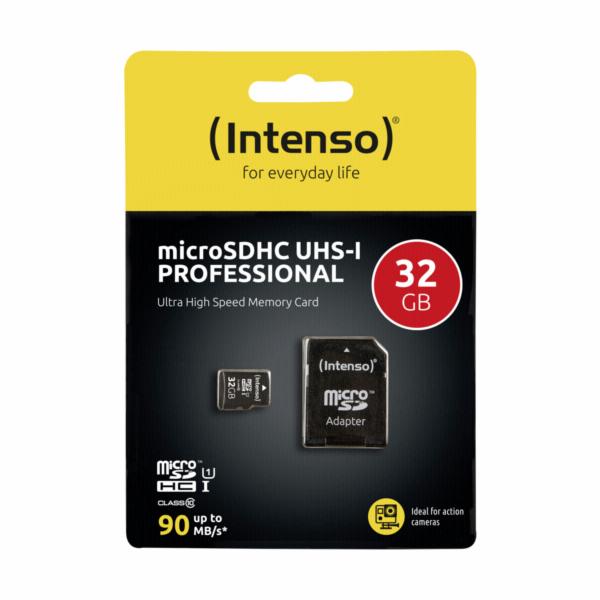 Intenso microSDHC 32GB Class 10 UHS-I Professional