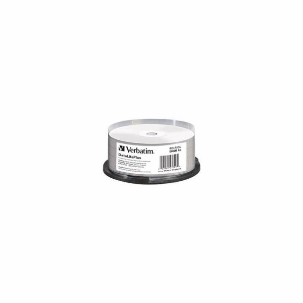 1x25 Verbatim BD-R Blu-Ray 50GB 6x Speed printable Cakebox