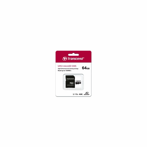 Transcend microSDXC 330S 64GB Class 10 UHS-I U3