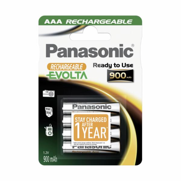 1x4 Panasonic akumulator NiMH Micro AAA 900 mAh