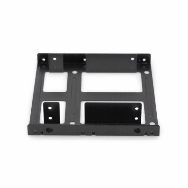 DIGITUS Montážní sada: dva SSD/HDD 2.5 do 3,5 pozice. Montážní rám, kovový černý, šrouby, kabely